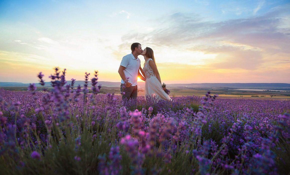 Свадьба для двоих в Крыму у лавандового поля