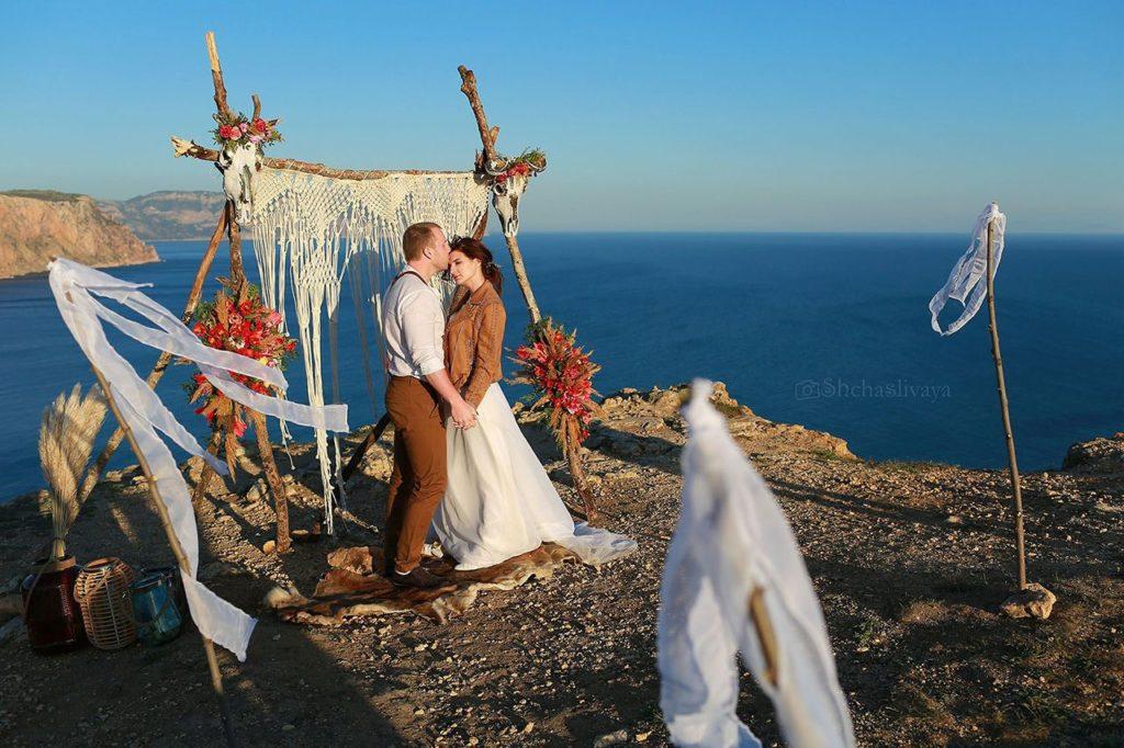Свадьба для двоих выездная регистрация на закате