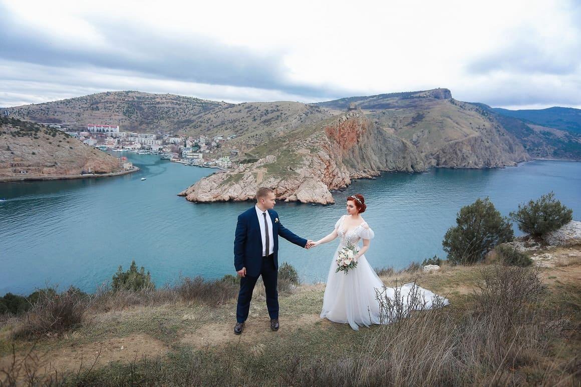свадьба для двоих зимой в балаклаве