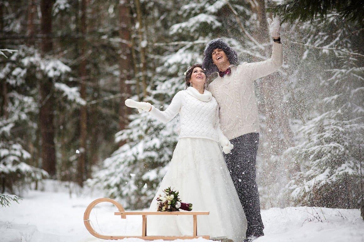 свадьба для двоих зимой